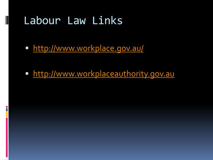 Labour Law Links