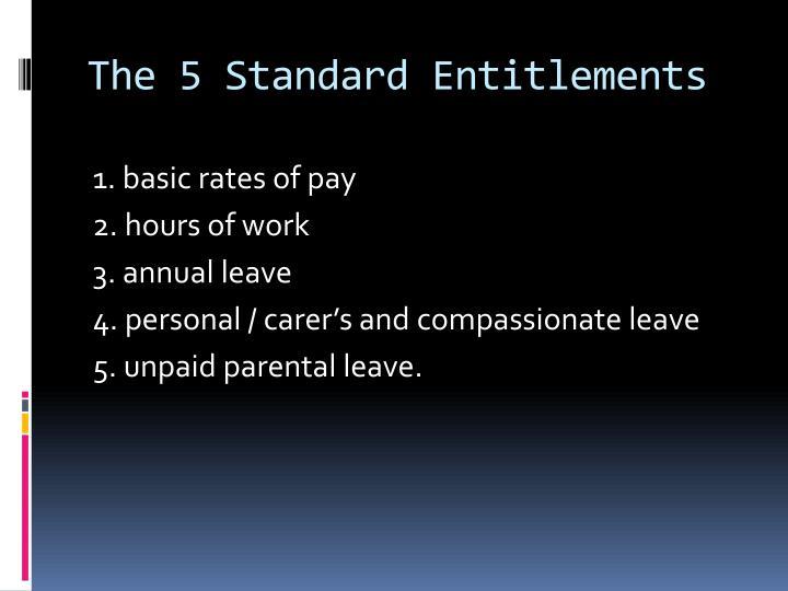 The 5 Standard Entitlements