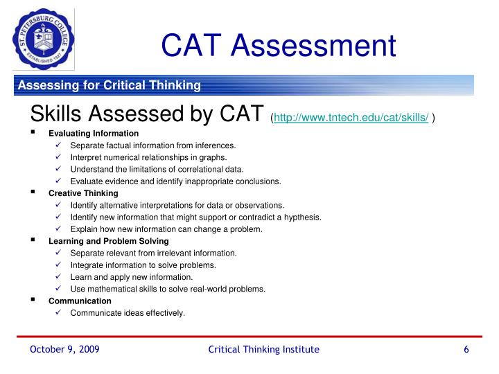 CAT Assessment
