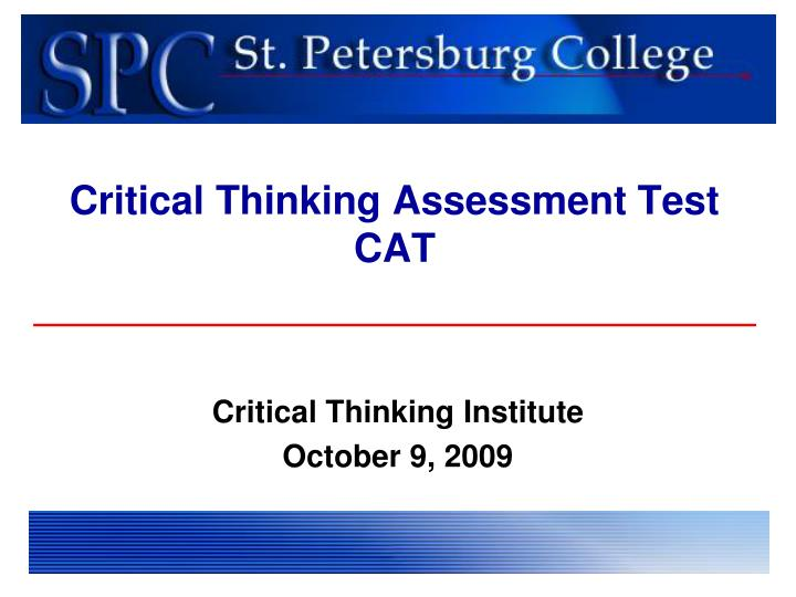 Critical Thinking Assessment Test