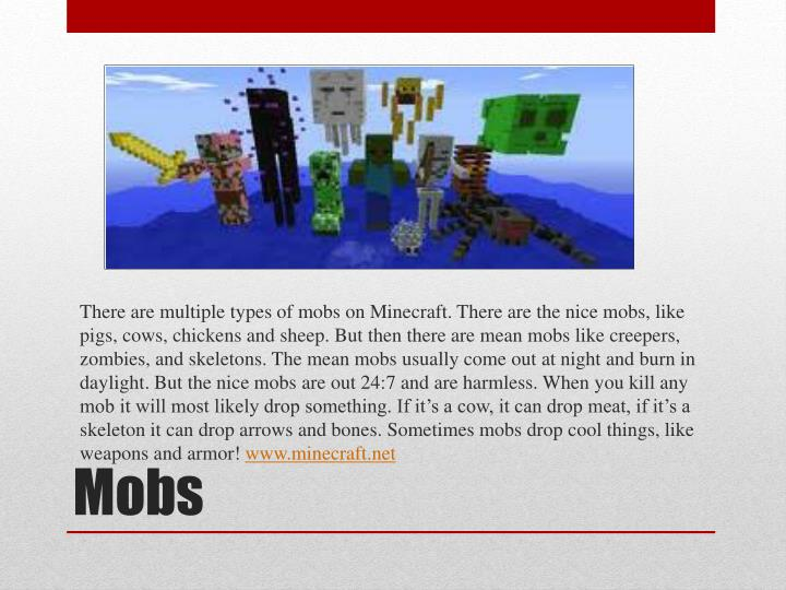 There are multiple types of mobs on