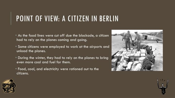 Point of view: A citizen in berlin