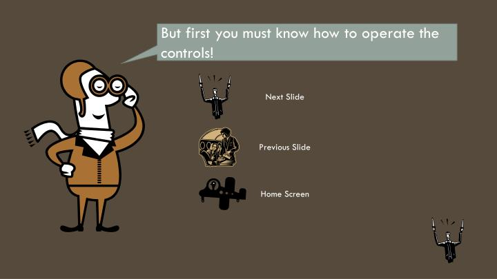 But first you must know how to operate the controls!