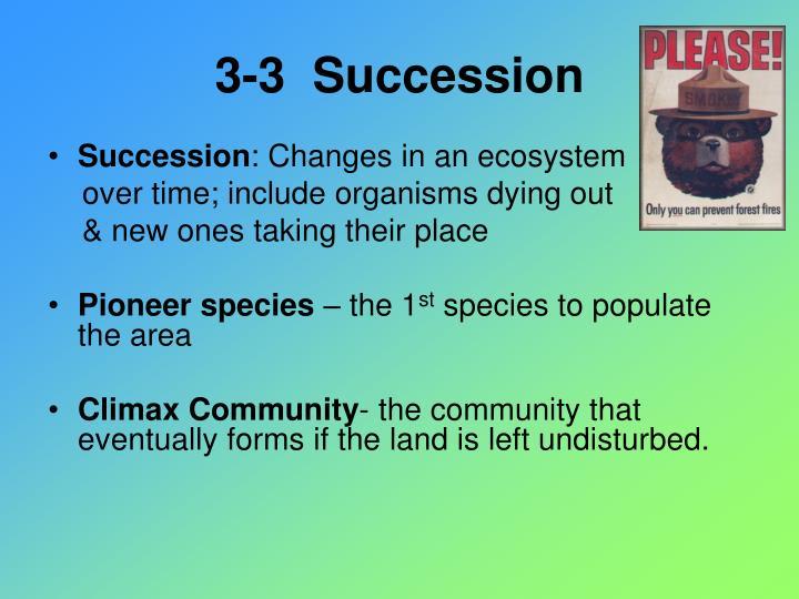 3-3  Succession