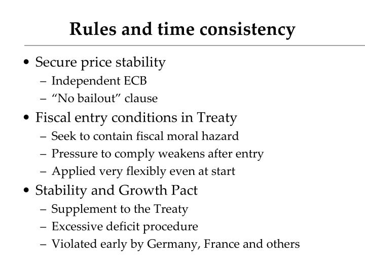 Rules and time consistency