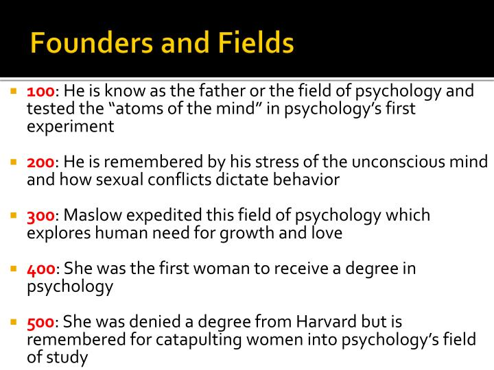 Founders and Fields
