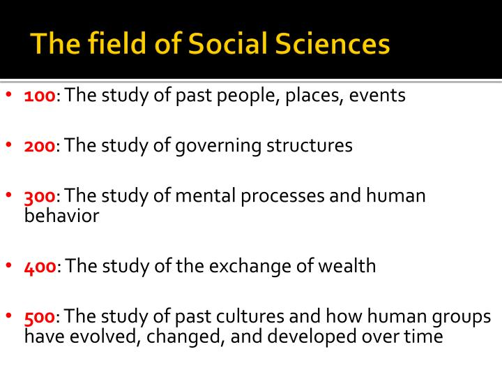 The field of Social Sciences