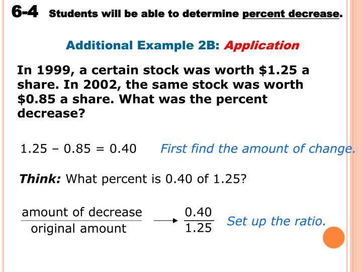 amount of decrease