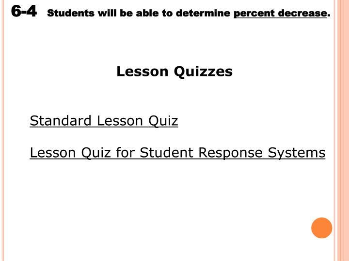 Lesson Quizzes
