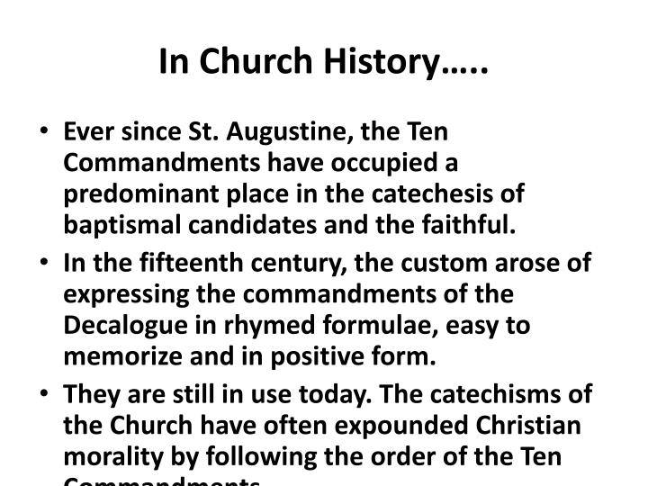 In Church History…..