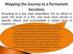 mapping the journey to a permanent secretary