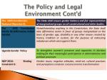 the policy and legal environment cont d