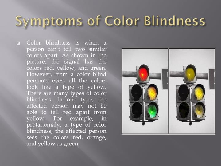 Symptoms of Color Blindness