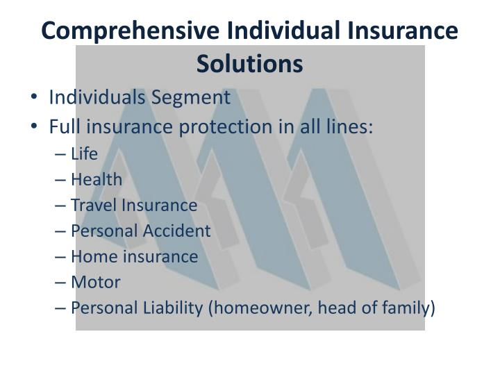 Comprehensive Individual Insurance Solutions