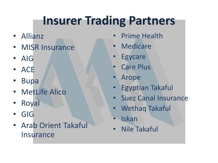 Insurer Trading Partners
