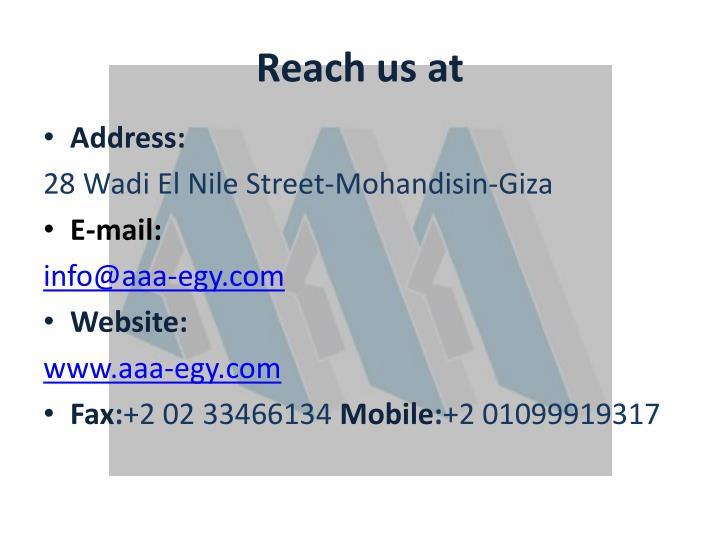 Reach us at