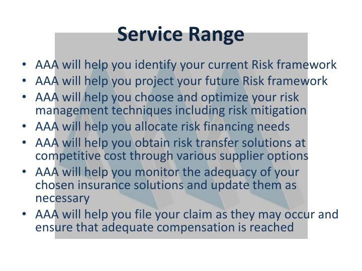 Service Range