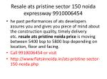resale ats pristine sector 150 noida expressway 99100064545