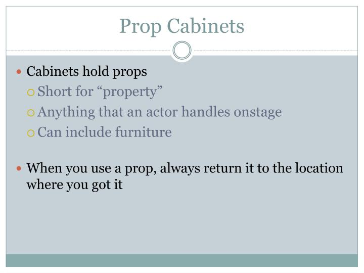 Prop Cabinets