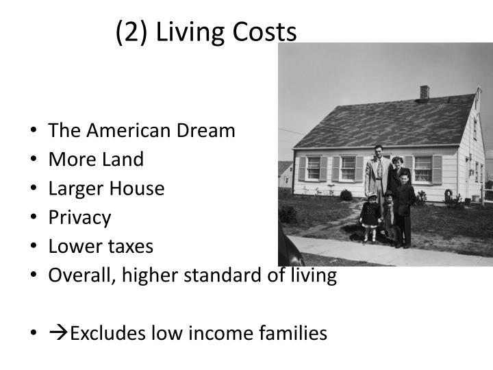 (2) Living Costs