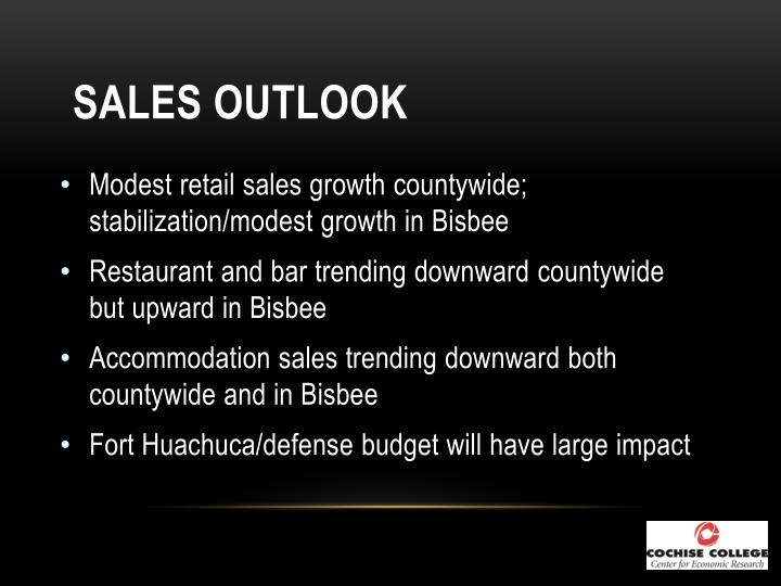 Sales Outlook