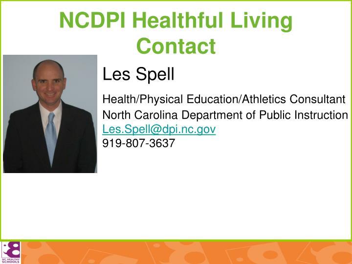 NCDPI Healthful Living Contact