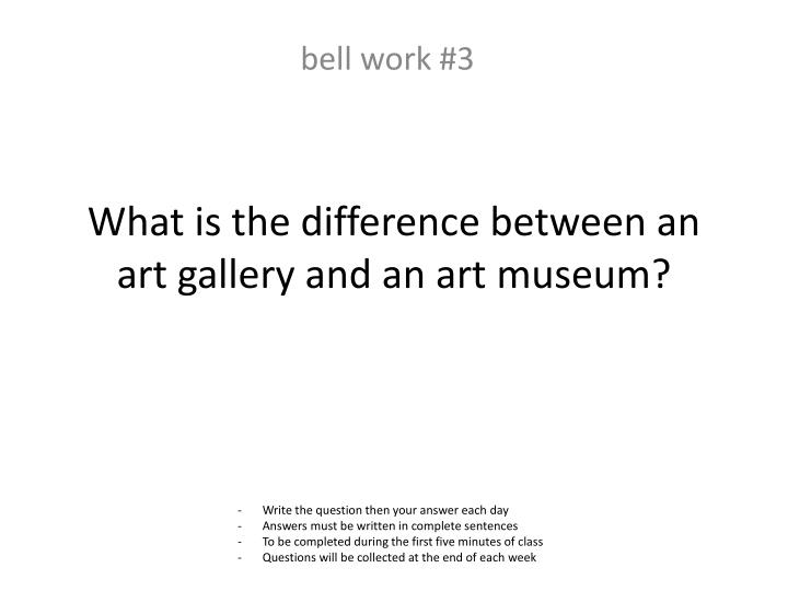 What is the difference between an art gallery and an art museum