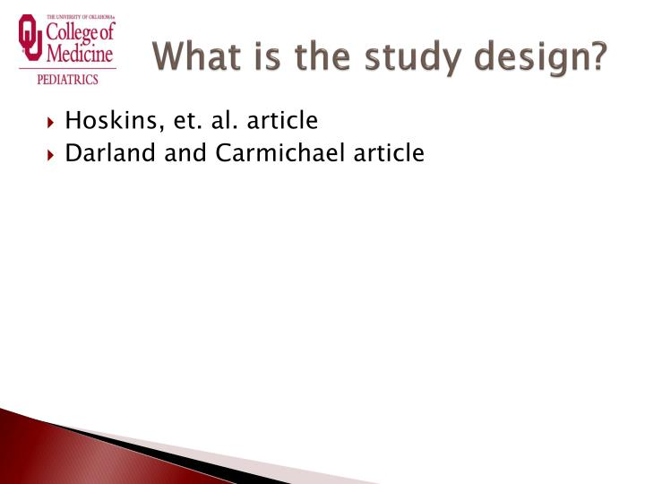 What is the study design?