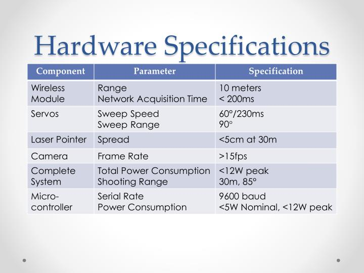 Hardware Specifications