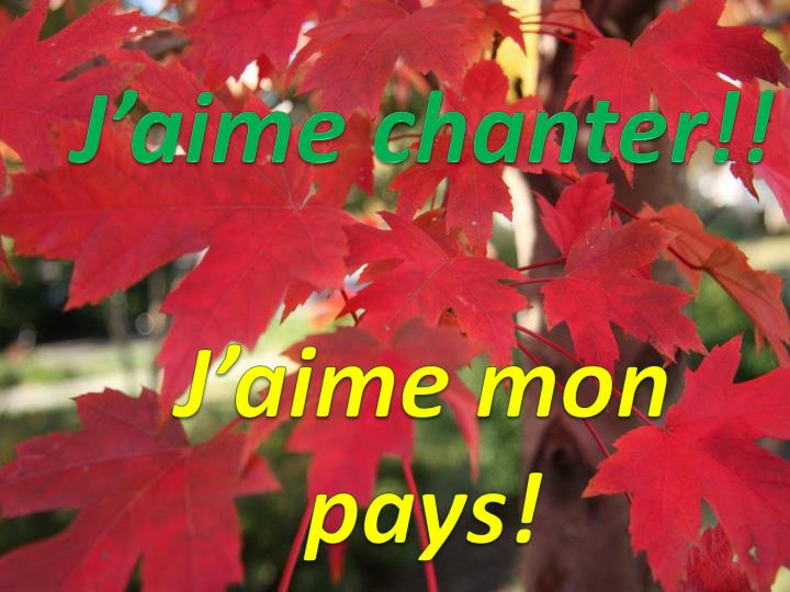 J'aime chanter!!