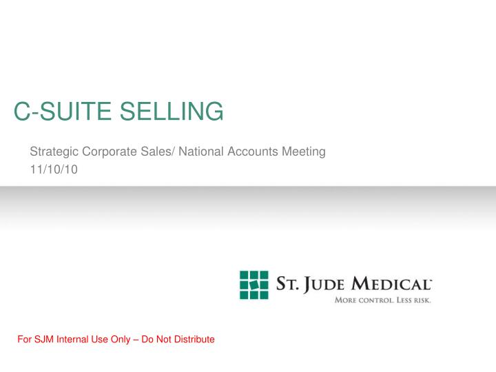 C-SUITE SELLING