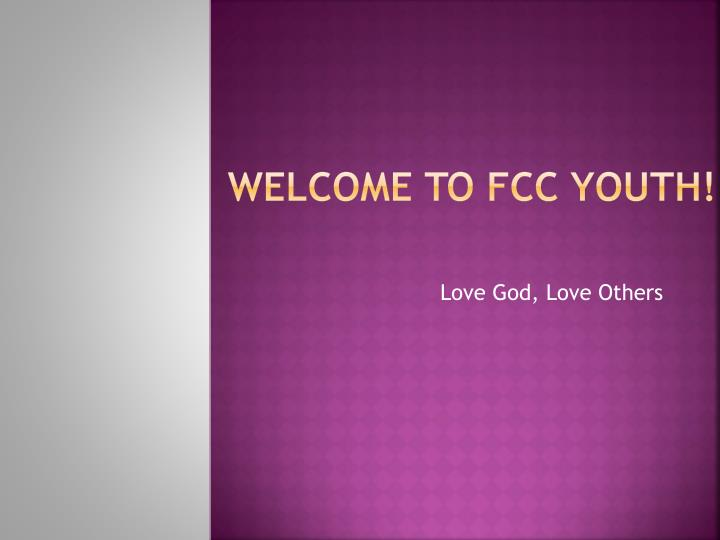 Welcome to fcc youth