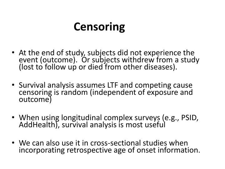 Censoring