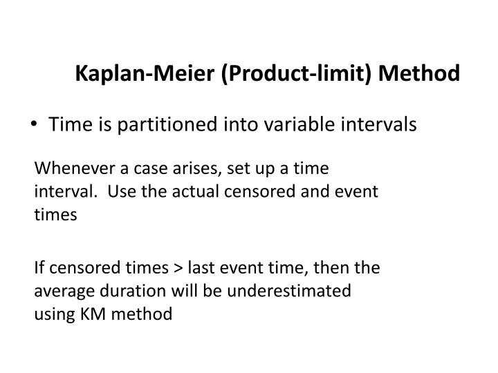 Kaplan-Meier (Product-limit) Method