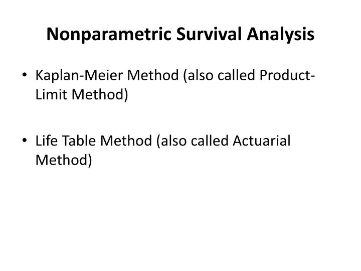 Nonparametric survival analysis