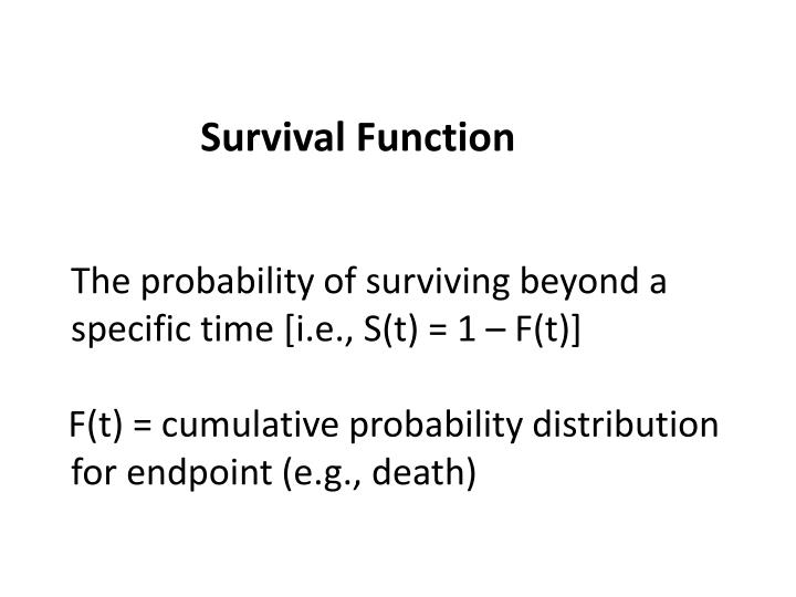 Survival Function