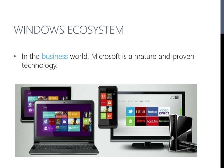 Windows Ecosystem