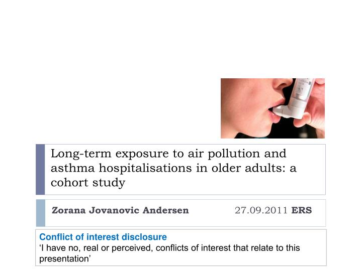 Long term exposure to air pollution and asthma hospitalisations in older adults a cohort study