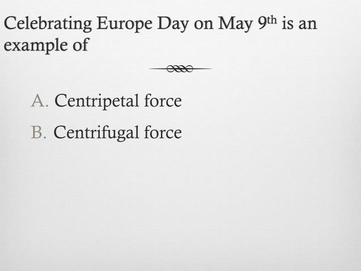 Celebrating Europe Day on May 9