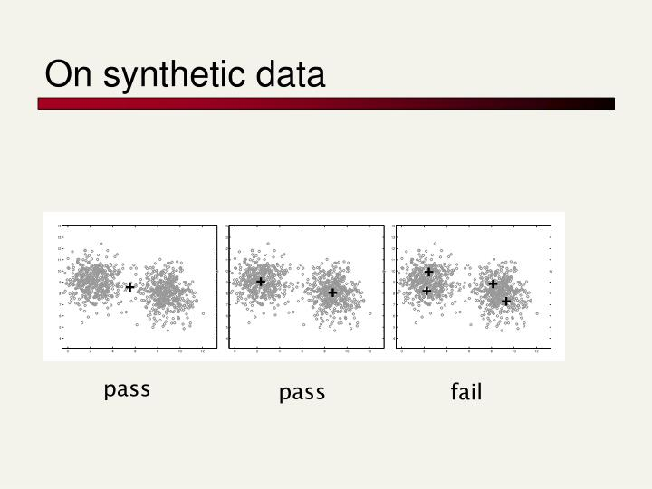 On synthetic data