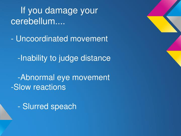 If you damage your cerebellum....