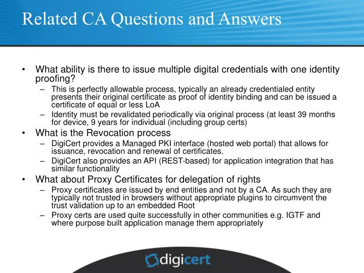 Related CA Questions and Answers