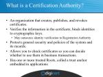 what is a certification authority