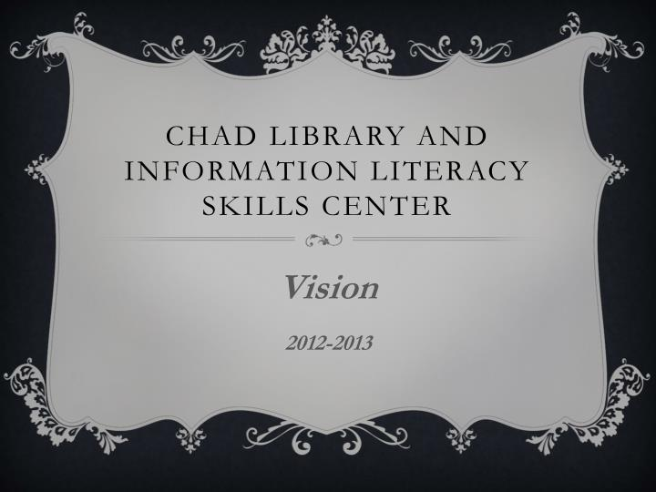 Chad library and information literacy skills center