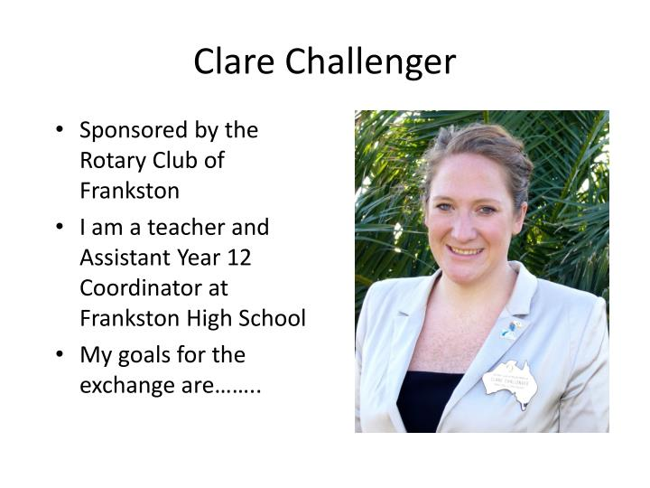 Clare Challenger