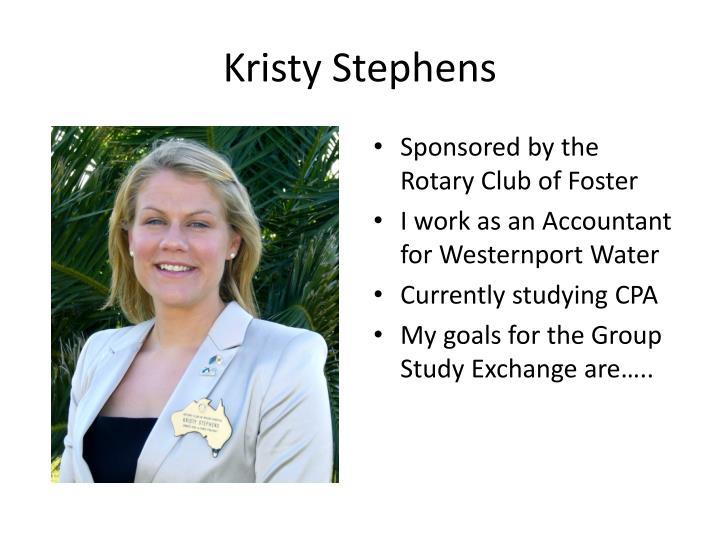 Kristy Stephens