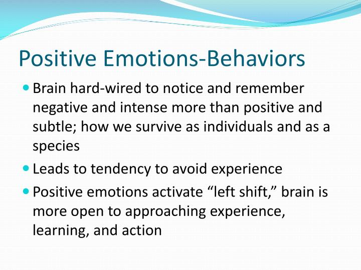 Positive Emotions-Behaviors