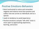 positive emotions behaviors
