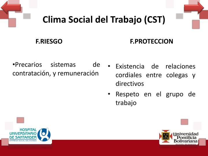 Clima Social del Trabajo (CST)