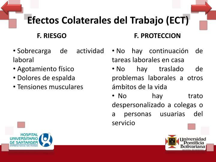 Efectos Colaterales del Trabajo (ECT)